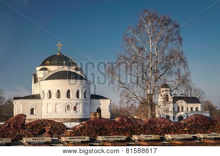 Church In Brest Near The Monument Of World War Ii In Belarus