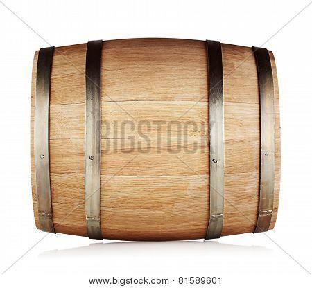 Round Oak Barrel