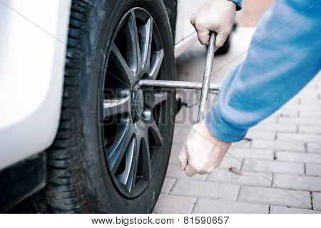 Changing Tires Of A Car