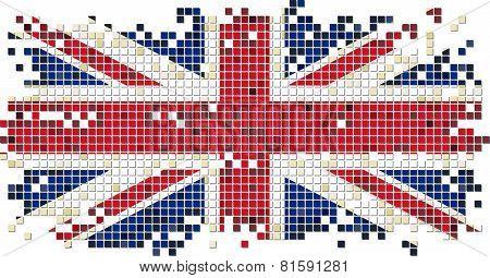 British grunge tile flag. Vector illustration