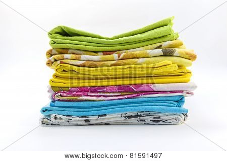 Pillowcases On A White Background