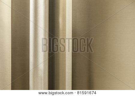 Texture Of The Handle And The Door Of The Refrigerator