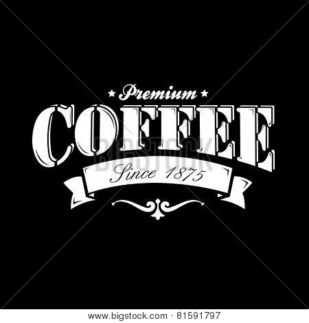 Coffee Background On Chalkboard
