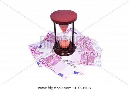 Sand Glass On Money