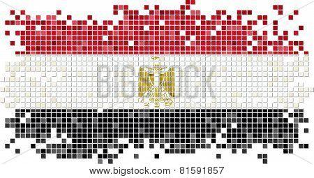 Egyptian grunge tile flag. Vector illustration