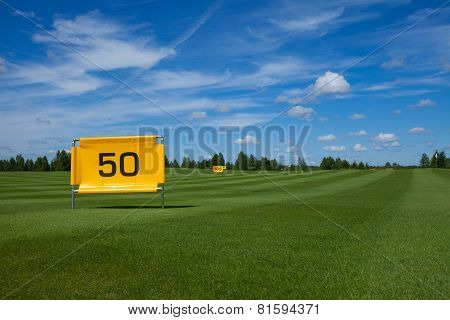 Golf Course Fifty meters
