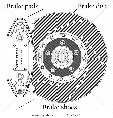 Brake Disc With Caliper