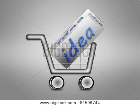 Large Idea In Shopping Cart