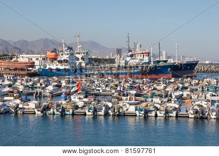 Fishing Port Of Kalba, Fujairah, UAE