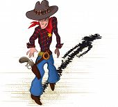 stock photo of gunfighter  - brave sheriff drawn as a sketch which stretches for gun - JPG