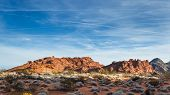 stock photo of valley fire  - sandstone desert landscape in Valley of Fire State Park in Nevada - JPG