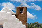 foto of pueblo  - San Geronimo Chapel in Taos Pueblo USA - JPG