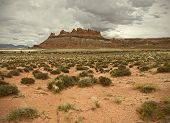 stock photo of southwest  - Landscape of beautiful desert nature in Utah Southwest USA desaturated image - JPG