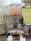 image of bohemia  - traditional rural smokehouse southern Bohemia  - JPG