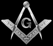 stock photo of freemason  - Masonic Square and Compass - JPG