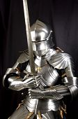 Armour of the medieval knight poster