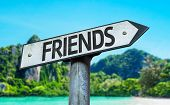 picture of bff  - Friends sign with a beach on background - JPG