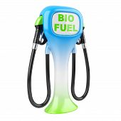 stock photo of fuel economy  - Bio fuel concept with petrol pump machine - JPG