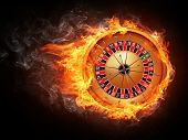stock photo of infernos  - Casino Roulette Isolated on White Background - JPG