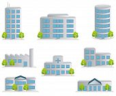 picture of buildings  - This graphic is Building icons set - JPG