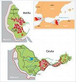 picture of ceuta  - Illustration of a autonomous city of Ceuta and Melilla - JPG