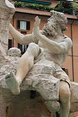 Marble Fountain in Navona Square