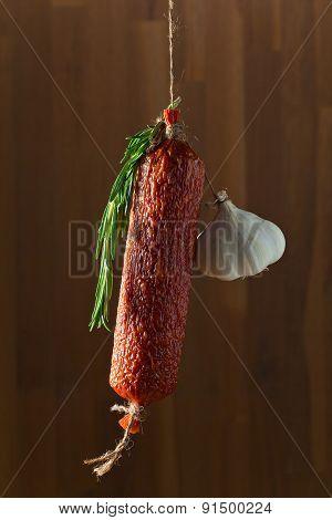 Salami With Rosemary And Garlic