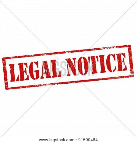 Legal Notice-stamp
