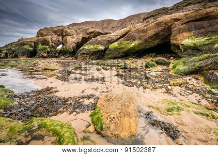 Smugglers Cave At Cullercoats