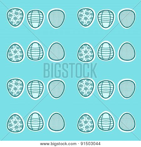 Easter Eggs Seamless Pattern Or Background
