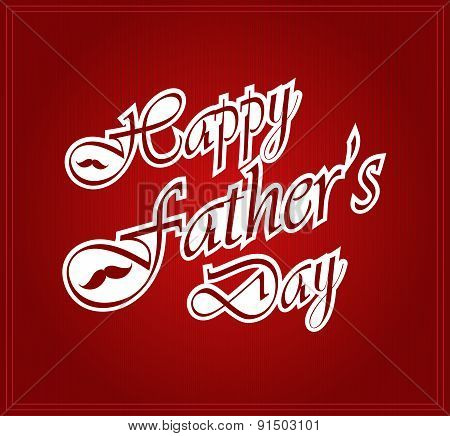 Happy Fathers Day on red background