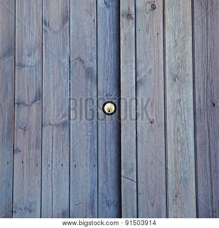 Lock And Door Wood Panels Background Texture, Square.