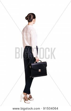 Business woman with briefcase