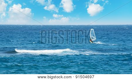 Windsurfing On A Spring Day