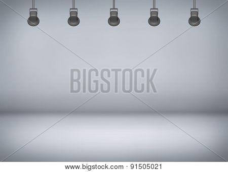grey spotlight background