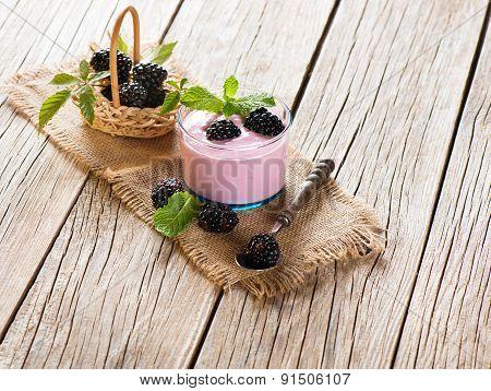 Dessert Of Blackberry