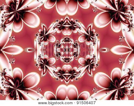 Flower Pattern In Fractal Design. Artwork For Creative Design, Art And Entertainment.