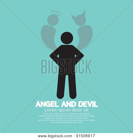 Angel And Devil Dark Side And Bright Side Of Human.