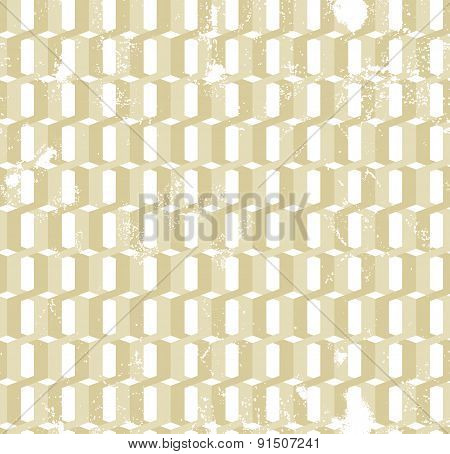 Twisted  gold rings grunge seamless pattern