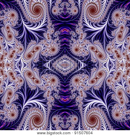 Beautiful Background With Spiral Pattern. Collection - Oriental Tales. Artwork