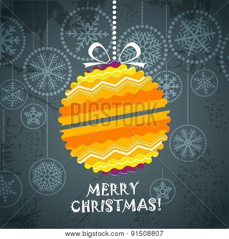 Vintage style Christmas greeting card. Raster version