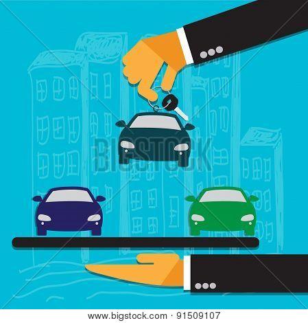 car sale concept