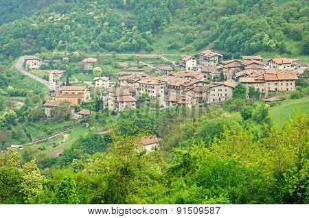 Pranzo, Medieval Village In Trentino, Italy
