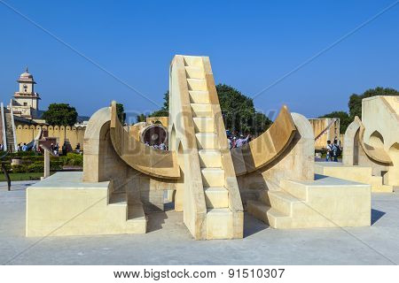 Astronomical Instrument At Jantar Mantar Observatory