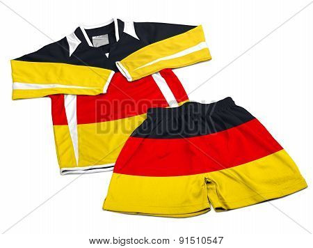 Flag From Germany On Nylon Soccer Sportswear Clothes