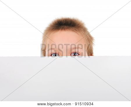 Kid Behind The Blank Paper