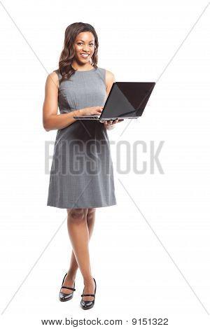 Black Businesswoman With Laptop