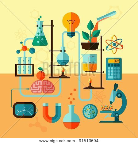 Scientific research laboratory template poster