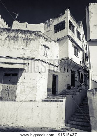 Narrow Arabic Streets, Old Medina Of Tangier