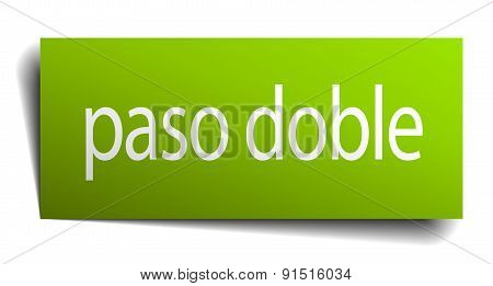 Paso Doble Square Paper Sign Isolated On White